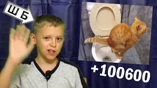 БЛ* ХАХАХА! Пацан обозревает срущего кота! +100600 (ШБ 308)