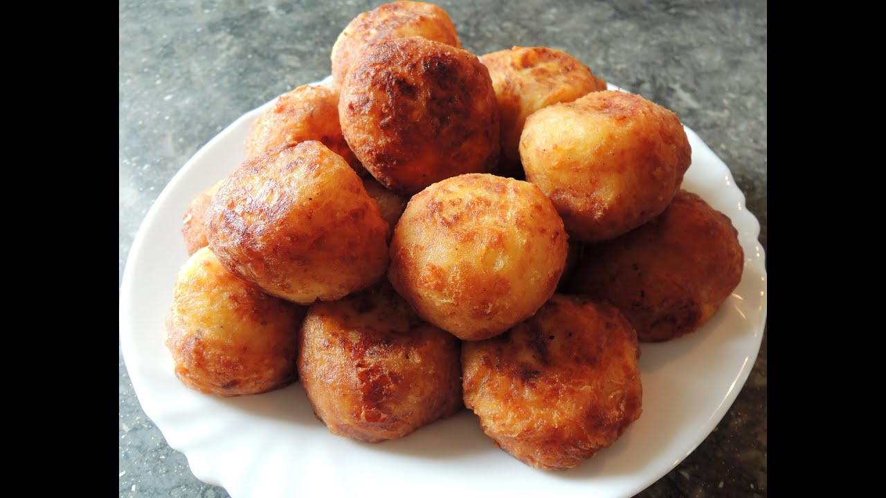 картофельные шарики из пюре рецепт с фото во фритюре