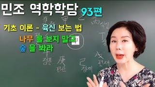 김민조의 역학강의_93편 기초이론-육신 보는 법 | 나무를 보지 말고 숲을 봐라!