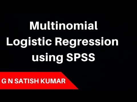 Multinomial  Logistic Regression using SPSS