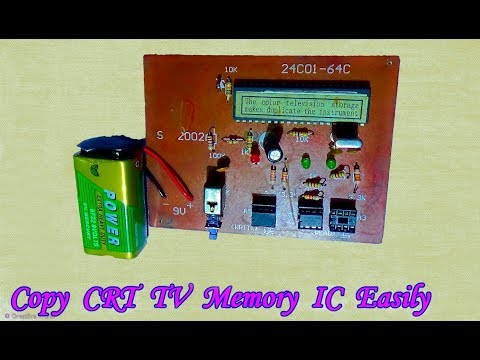 How To Copy A Memory IC/ Logo Of A CRT Color Television - Bengali