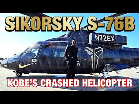 KOBE'S SIKORSKY S-76B HELICOPTER AND FLIGHT TRACK BEFORE CRASHING