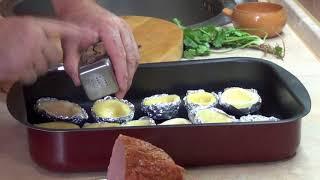 Жюльен в картофельных лодочках