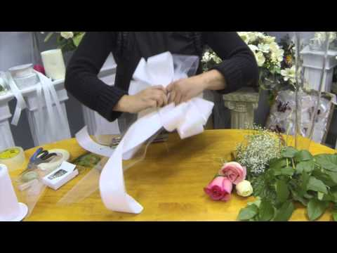 How to Make Pew Bows with Tulle, Ribbon and Fresh Flowers