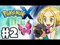 Pokemon X and Y Gameplay Walkthrough Part 2 Gym Leader Viola Battle Nintendo 3DS