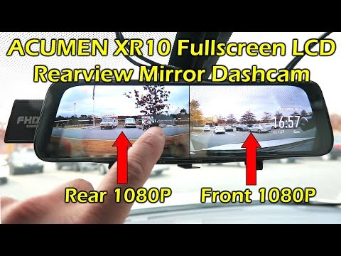 ACUMEN XR10 Fullscreen LCD Rearview Mirror Front Rear Dashcam