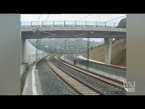 Spanish Train Crash Video | Spanish Train Crash Caught on CCTV