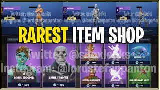 *NEW* Fortnite: THE RAREST ITEM SHOP IN-GAME! *Concept*| (Skull Trooper/Ghoul, Christmas Skins/More)