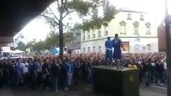 Schalker fan rufen Scheiss BVB  27.09.2014