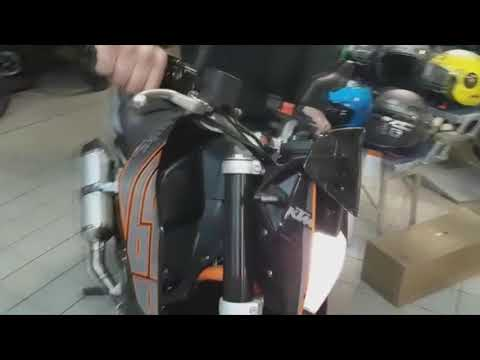 ARROW EXHUAST SOUND SYSTEM ON KTM DUKE  R MARMITTA ARROW SOUND SU KTM DUKE  R