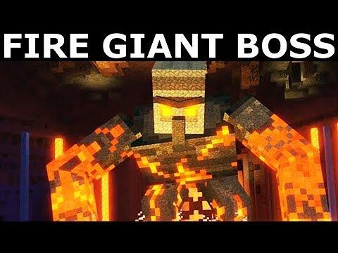 Fire Giant Boss Battle - Minecraft: Story Mode Season 2 Episode 4: Below The Bedrock