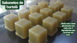 Faça Sabonetes de Hortelã Usando Base Glicerinada Sem Soda – 4 Ingredientes