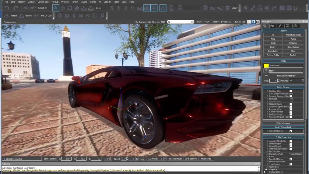 Cryengine Drivable Lamborghini Aventador Free Download Youtube
