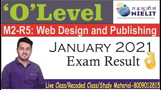 #olevel M2:R5 Web Design  jan2021Answer key Released Web Design  jan2021 Exam result   Ratnakar sir