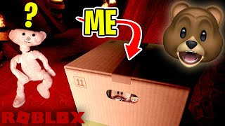 I wore a CARDBOARD BOX to hide from ROBLOX BEAR!!