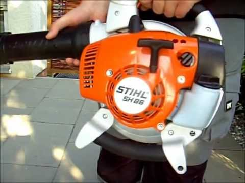 stihl sh 86 d saugh cksler youtube. Black Bedroom Furniture Sets. Home Design Ideas