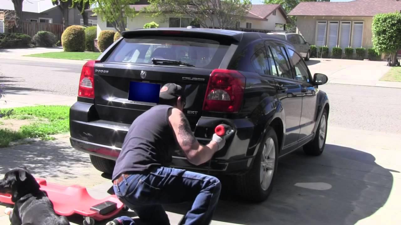 Plastic Bumper Dent Repair With Heat Gun Youtube
