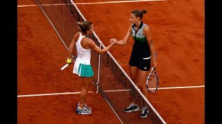 2017 Roland Garros Semifinals   Simona Halep vs Karolina Pliskova   Highlights