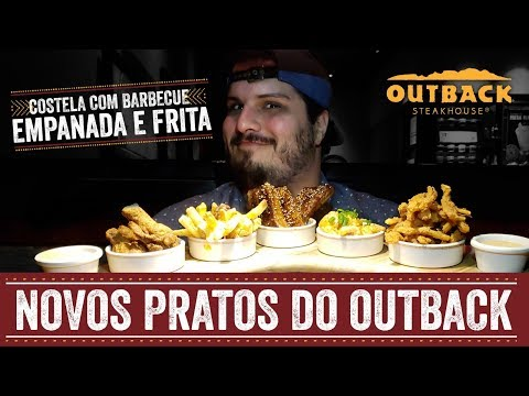 BOOMERANGUE E COSTELA FRITA DO OUTBACK + SOBREMESA NOVA