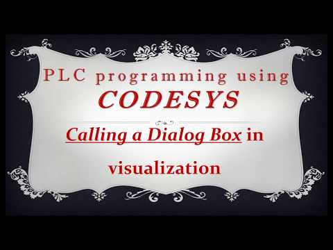 CODESYS: Calling a Dialog Box (and using Date Picker) in visualization