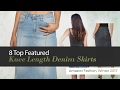 8 Top Featured Knee Length Denim Skirts Amazon Fashion, Winter 2017
