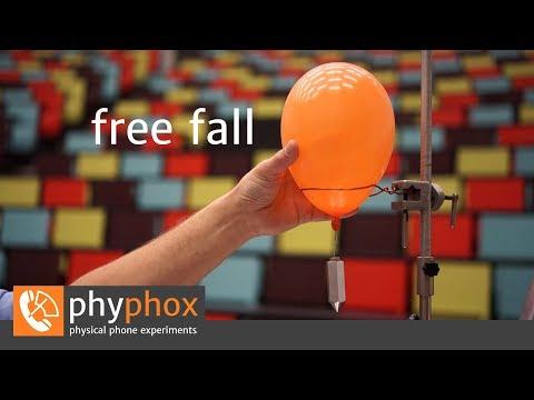 Smartphone-Experiment: Free fall (en)