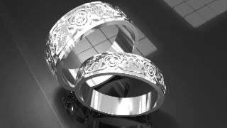 Свадебные кольца из белого золота с бриллиантами(, 2013-11-25T23:32:00.000Z)