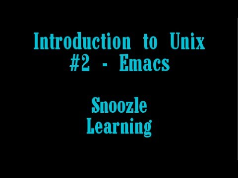 Snoozle Learning - Emacs