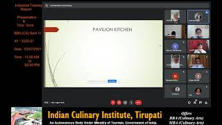 Ms Nandana; a student of Indian Culinary Institute, Tirupati shares her Training Experience