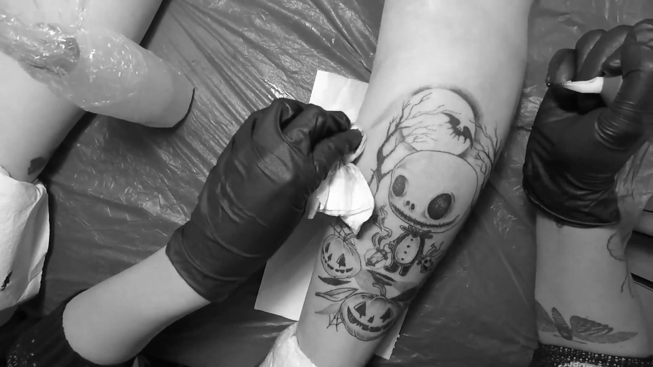 TATTOO | BABY JACK SKELETRON NIGHTMARE BEFORE CHRISTMAS - YouTube