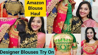🌺Amazon Designer Blouse Haul🌺Latest Designer Blouse Designs🌺Ready-made blouse Haul🌺Preena