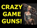TOP 10 Totally CRAZY Video Game Guns!