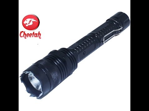 hqdefault cheetah 10 million volt stun gun flashlight youtube  at bakdesigns.co