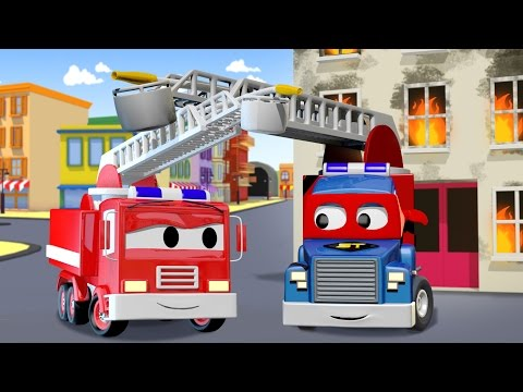 Carl Transform and the Fire Truck in Car City | Trucks cartoon for kids
