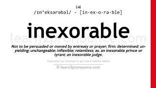 How To Pronounce Inexorable English Pronunciation Youtube