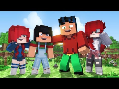 Meeting the Kids & House Tour!  (minecraft Superhero Roleplay)