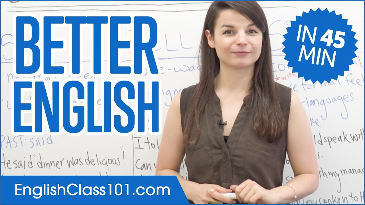 Learn English in 45 Minutes - ALL the Grammar Basics You Need - YouTube