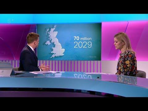 UK population set to pass 70 million mark by 2029 - Olivia Kinsley