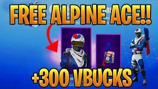 Fortnite Guide - Free skin Alpine Ace + 300 V-Bucks - KOREAN Playground Challenges
