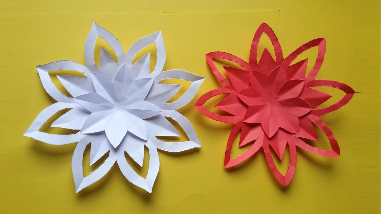 Howto Make Simple Colour Paper Flower Youtube