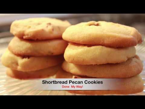 Shortbread Pecan Cookies
