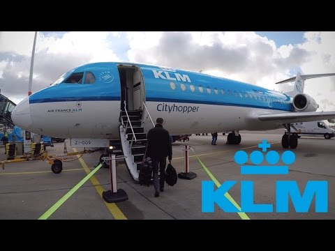 FLIGHT REPORT / KLM FOKKER 70 / AMSTERDAM - BRUSSELS