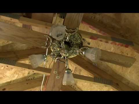 Hunter Original Ceiling Fan Model 22274 PB w/Ornate Oak Leaf Faceplate