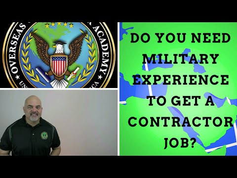 Do you need military experience to get defense contractor jo