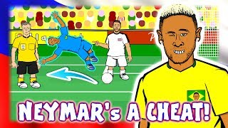 😠NEYMAR's A CHEAT!😠 (Neymar Dive Brazil vs Costa Rica 2-0 Penalty VAR Goal Highlights)