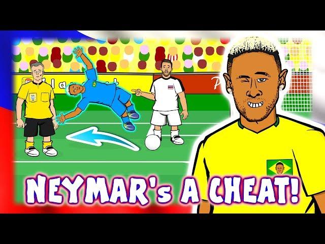 😠NEYMAR's A CHEAT!😠 (Neymar Dive Brazil vs Costa Rica 2-0 Penalty VAR Goal Highlights)