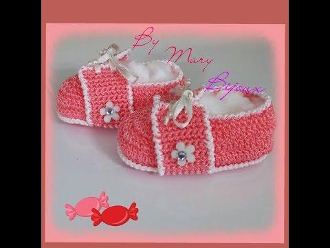 Scarpette ad uncinetto neonato tipo tennis/ Baby crochet shoes