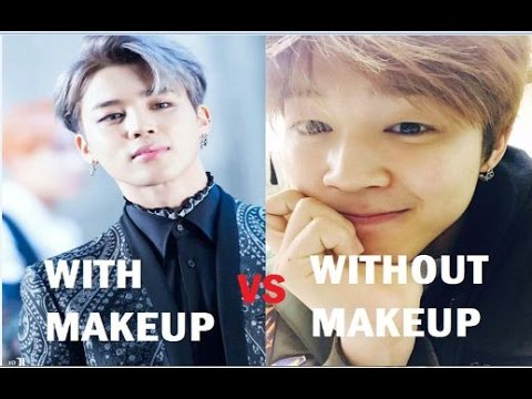 BTS WITH MAKEUP VS WITHOUT MAKEUP