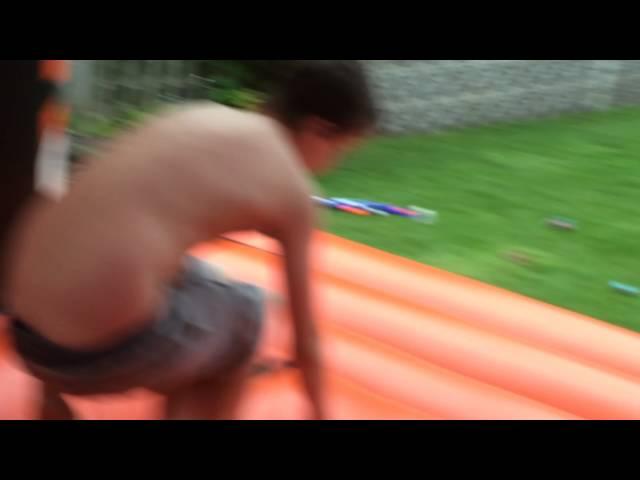 Edwards tricks on my bouncy castle