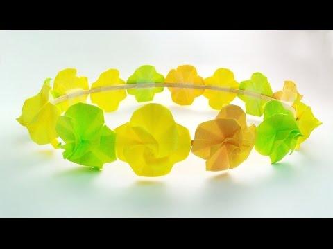 Easy flower crown /ทำมงกุฎดอกไม้ง่ายๆ